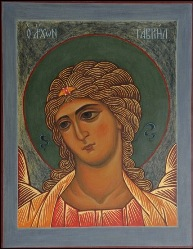 The holy Archangel Gabriel or The Angel with golden Hair