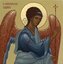 Archangel Gabriel, part of the Annunciation on the Royal doors