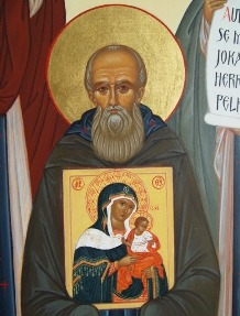 St. Arsenius of Konevets, detail of the assembly of Karelia�s saints